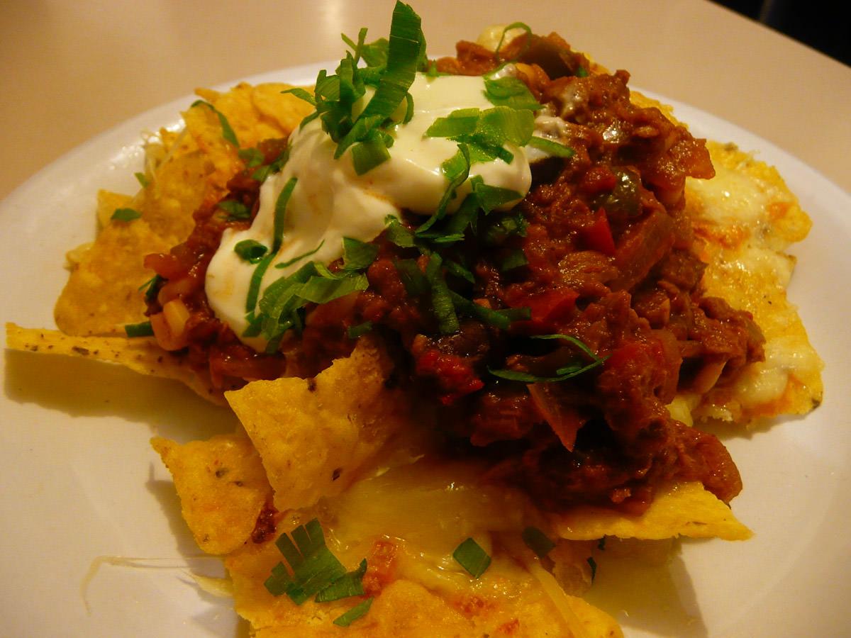 Tuna & Beans nachos