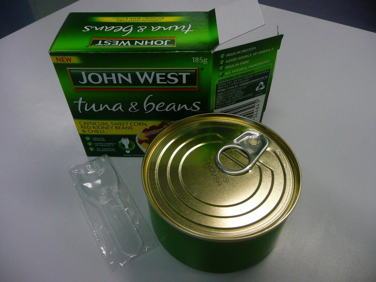 John West Tuna & Beans - unpacked
