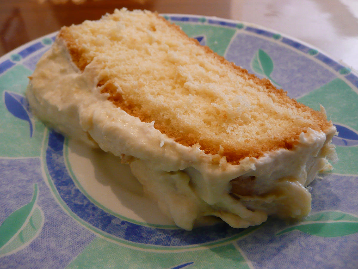My slice of durian cream cake
