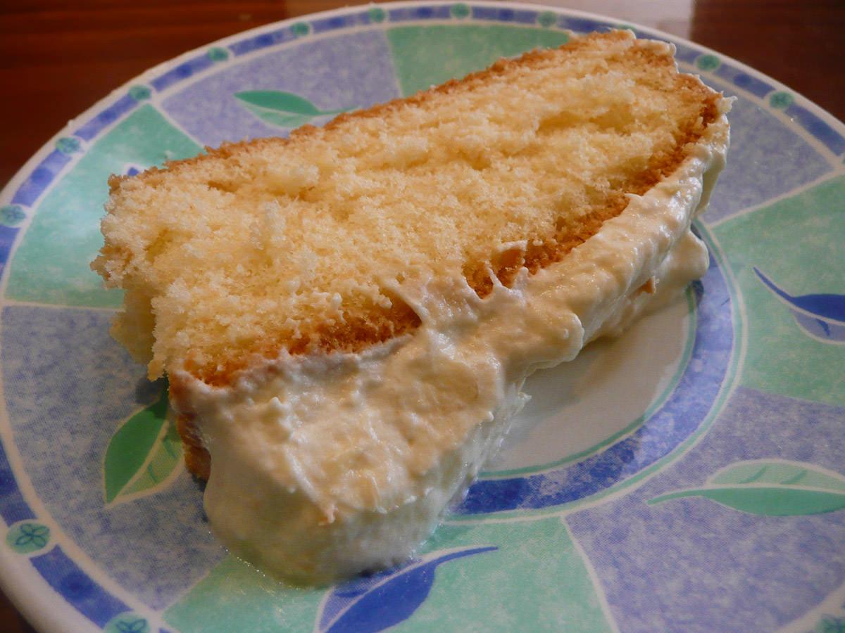 My slice of durian cream cake