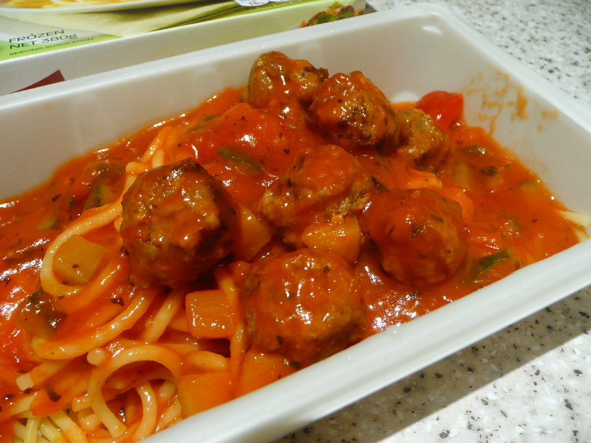 Lean Cuisine - Meatball Arrabbiata - the real thing