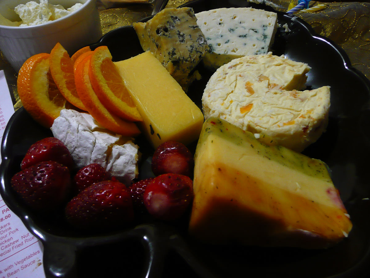 Secondhand cheese platter