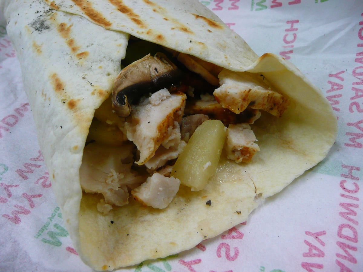 MYO toasted wrap with chicken
