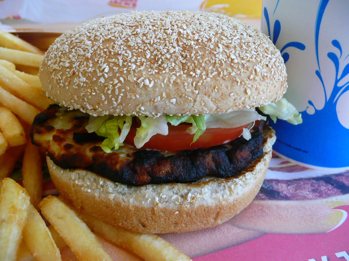 Hungry Jack's Grilled Chicken Burger