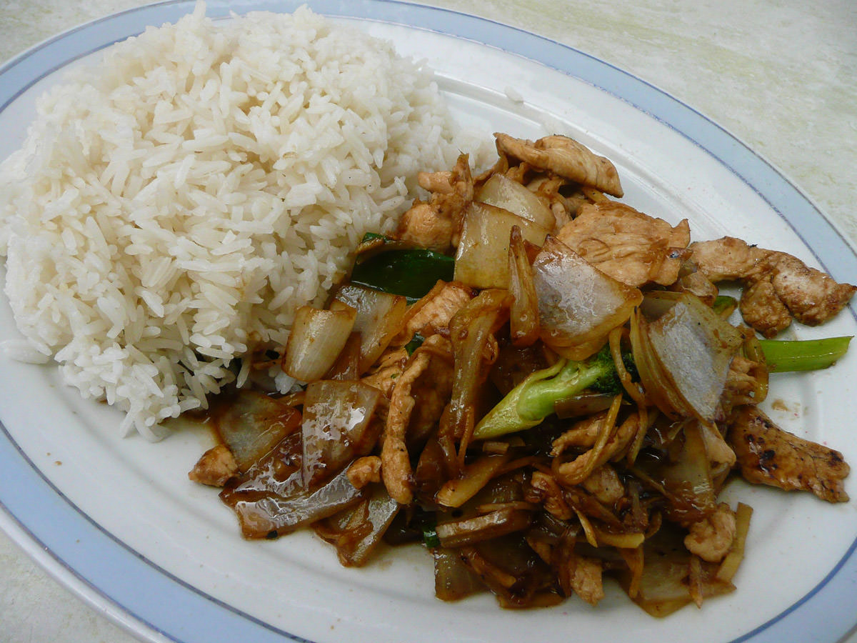 Ginger chicken and rice