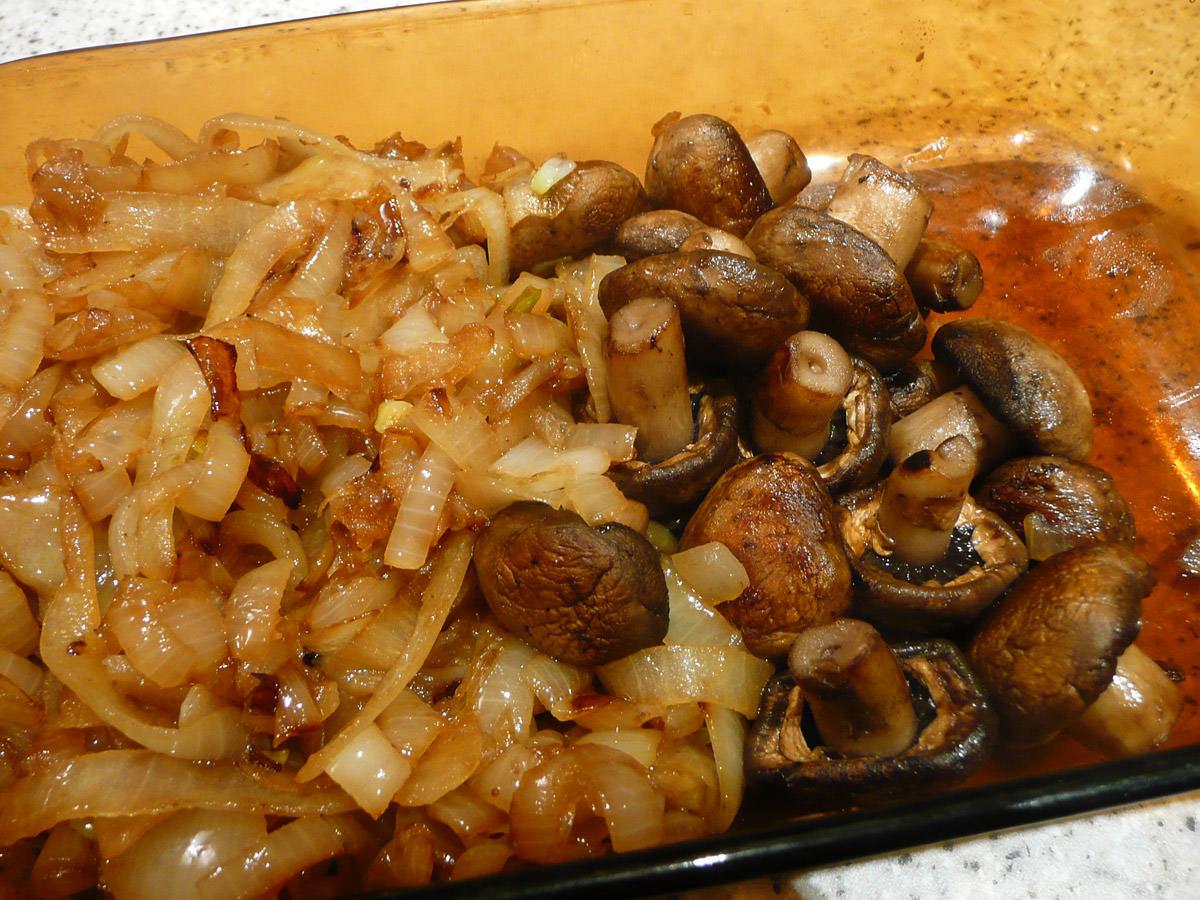 Mushrooms and onions