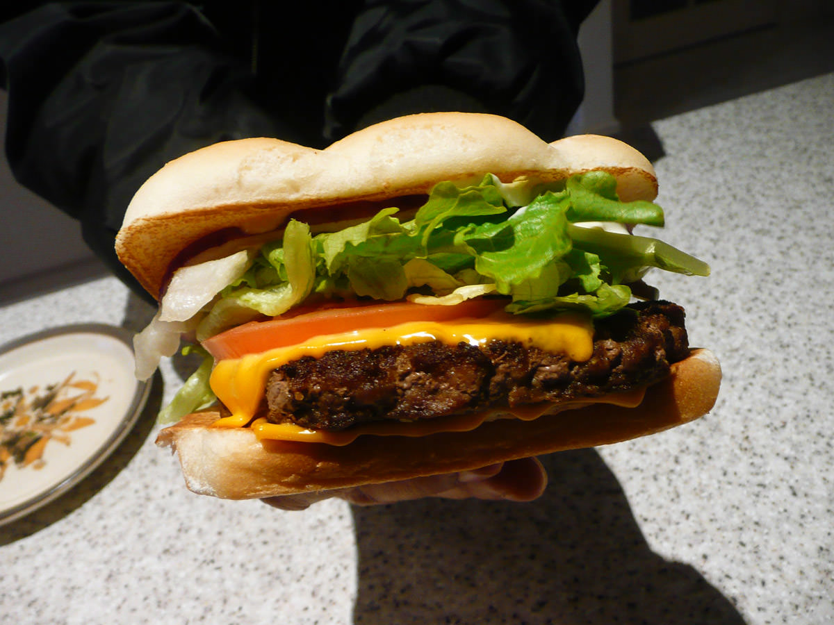 McDonald's Grand Angus burger