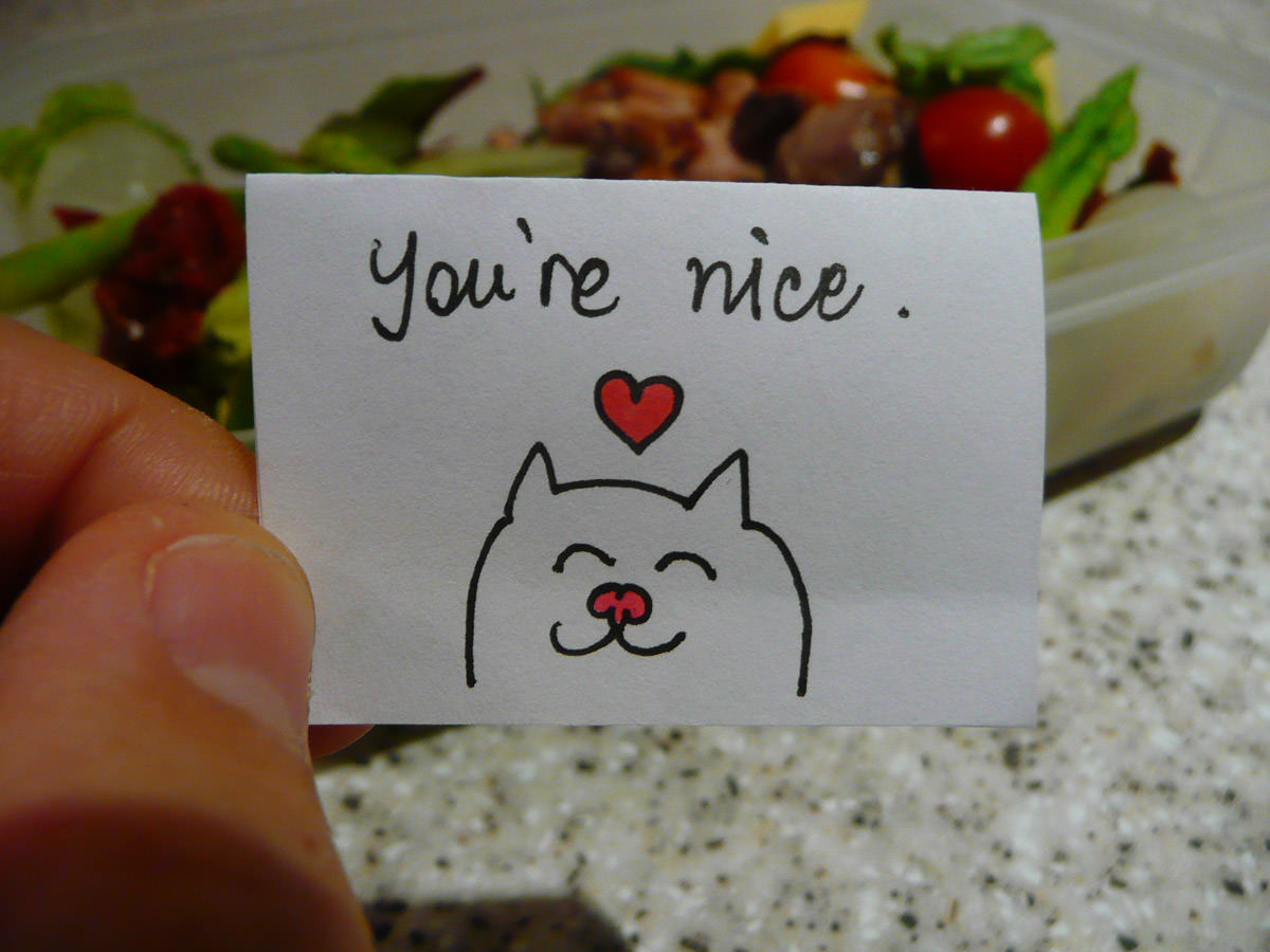 Bento note for Jac - You're nice