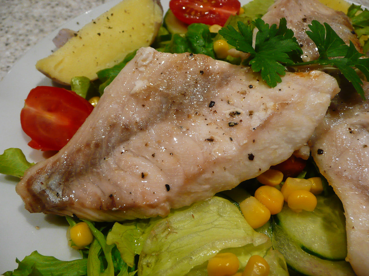 Grilled snapper close-up