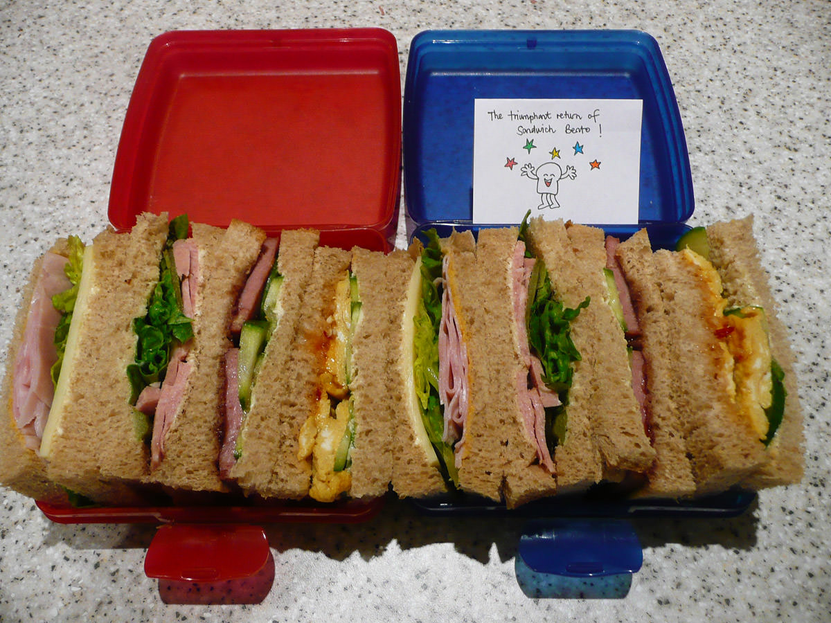 Sandwich bento for two