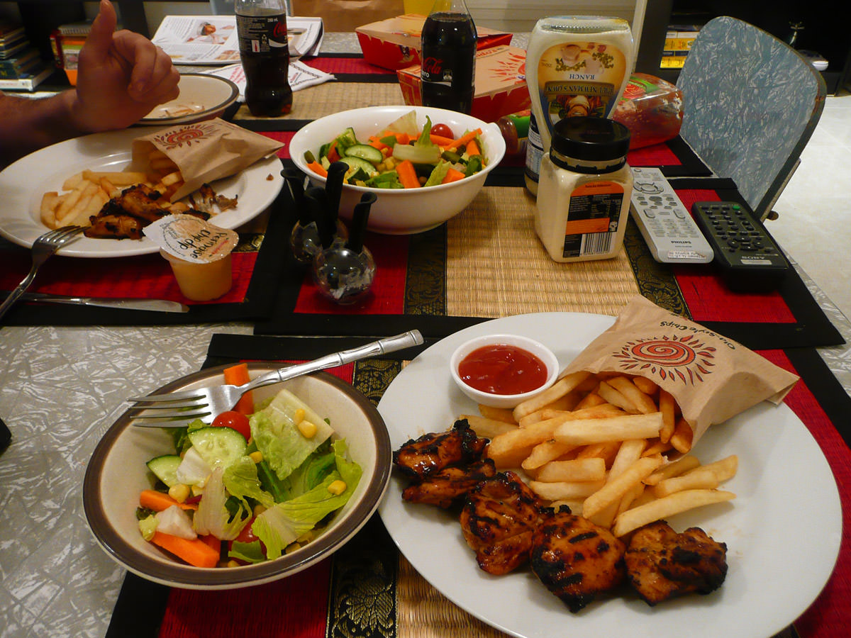 Nando's and salad dinner with Jac