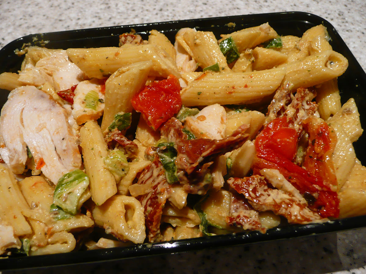 Roasted chicken penne salad