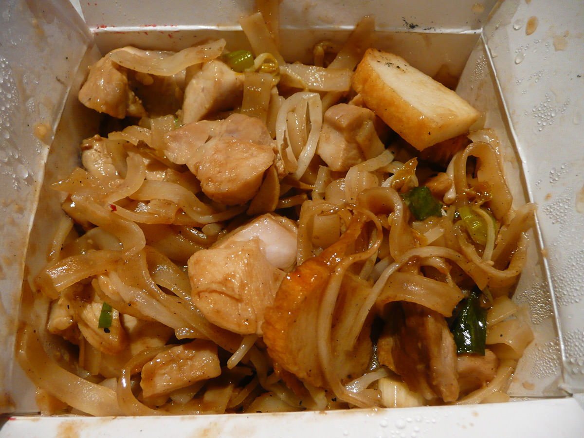Pad Thai from Noodlebox - close-up