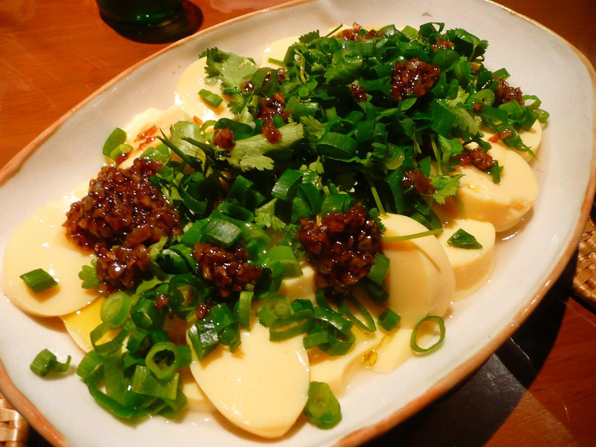 Garlic oil tofu