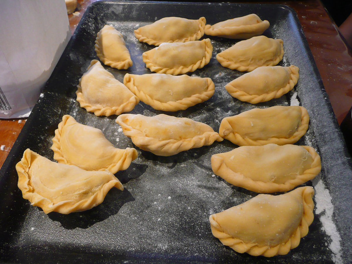 Curry puffs - before frying