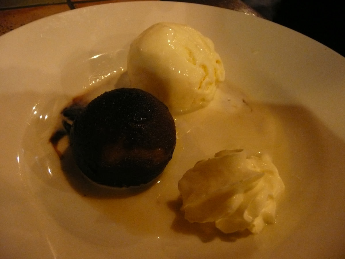Gulab jamun with cream and ice cream
