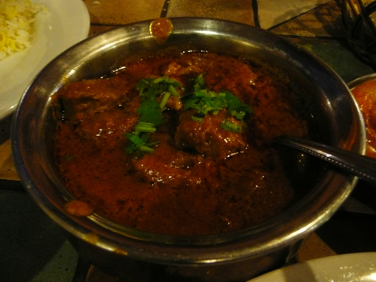 Cinnamon baby goat curry