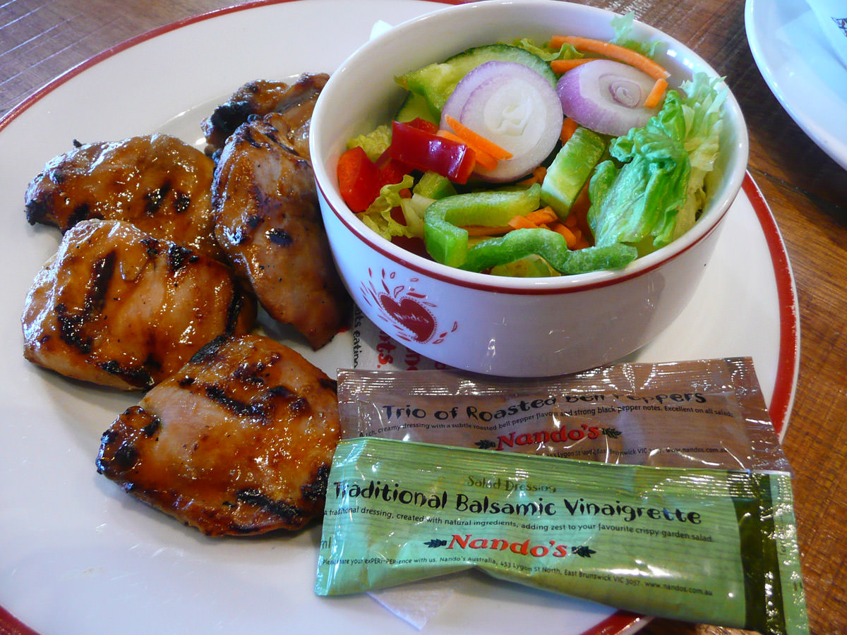 4-thigh piece pack with garden salad