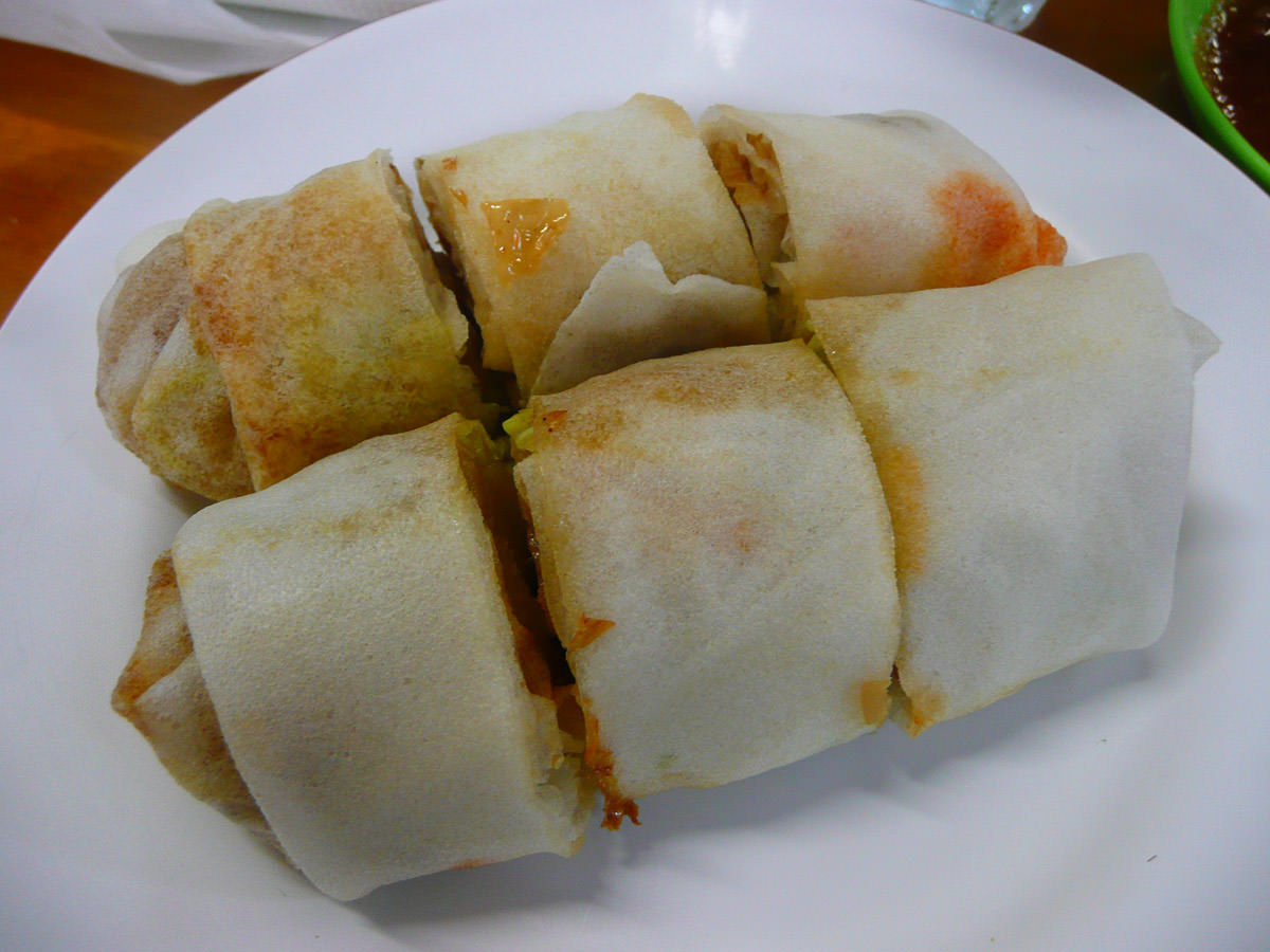 Popiah with chilli