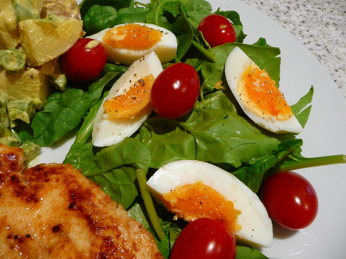 Garden salad close-up