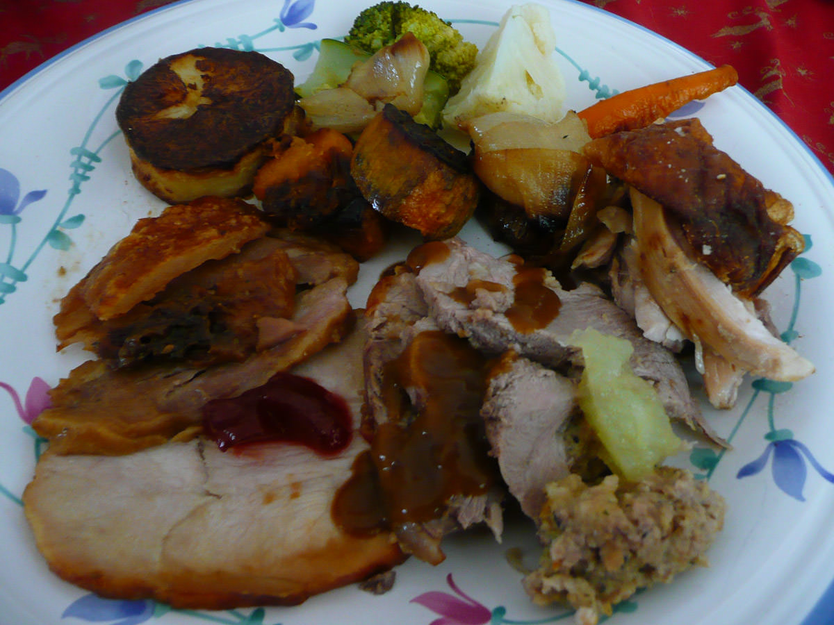 Christmas lunch - my plate