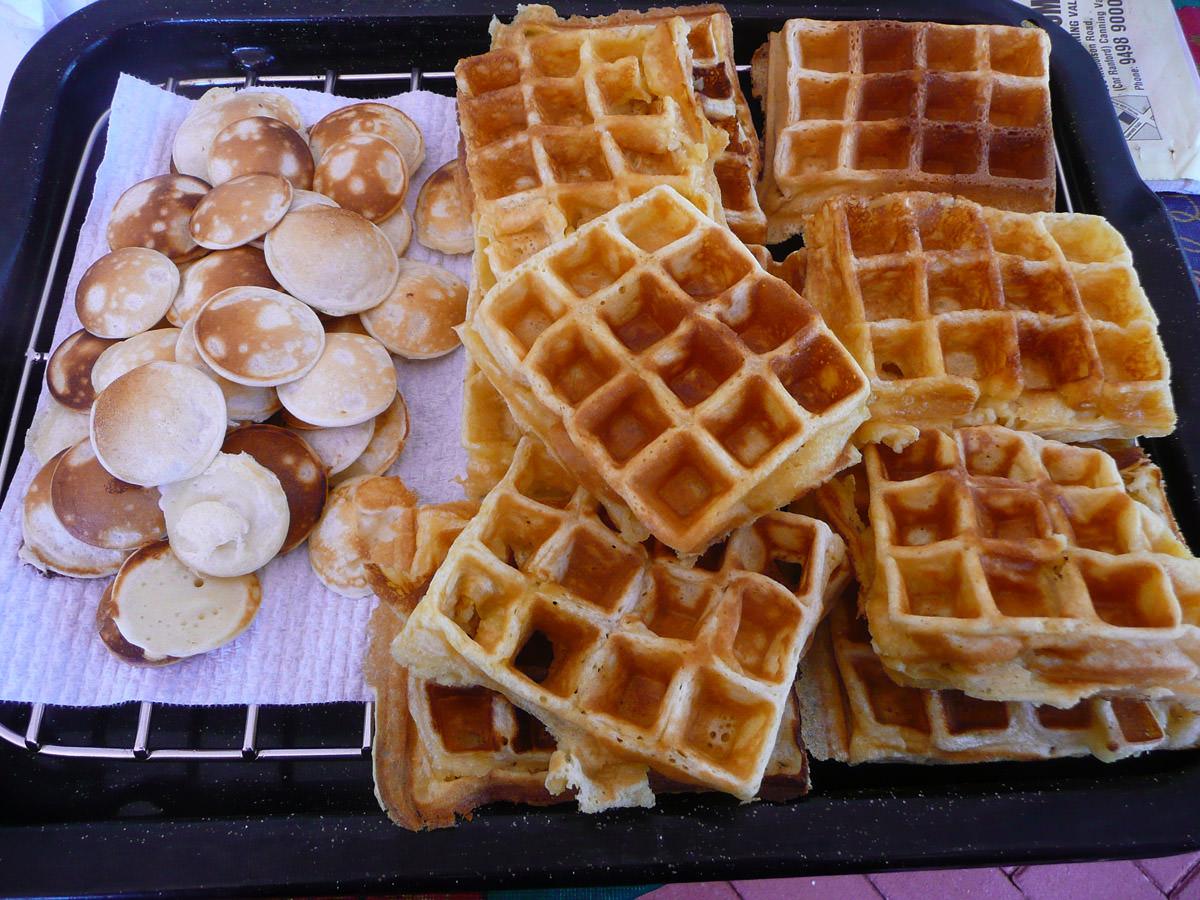 Poffertjes and waffles