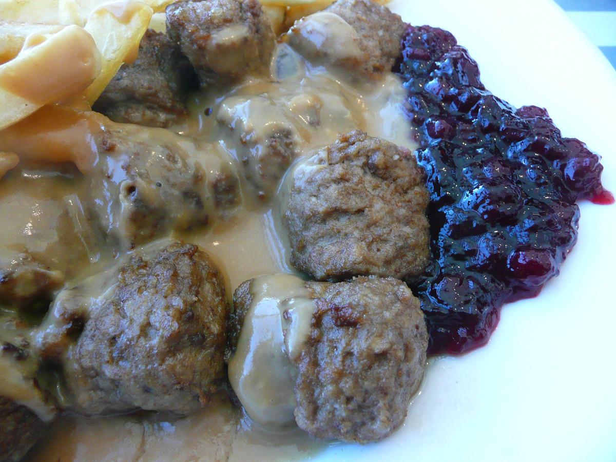 IKEA Swedish meatballs close-up