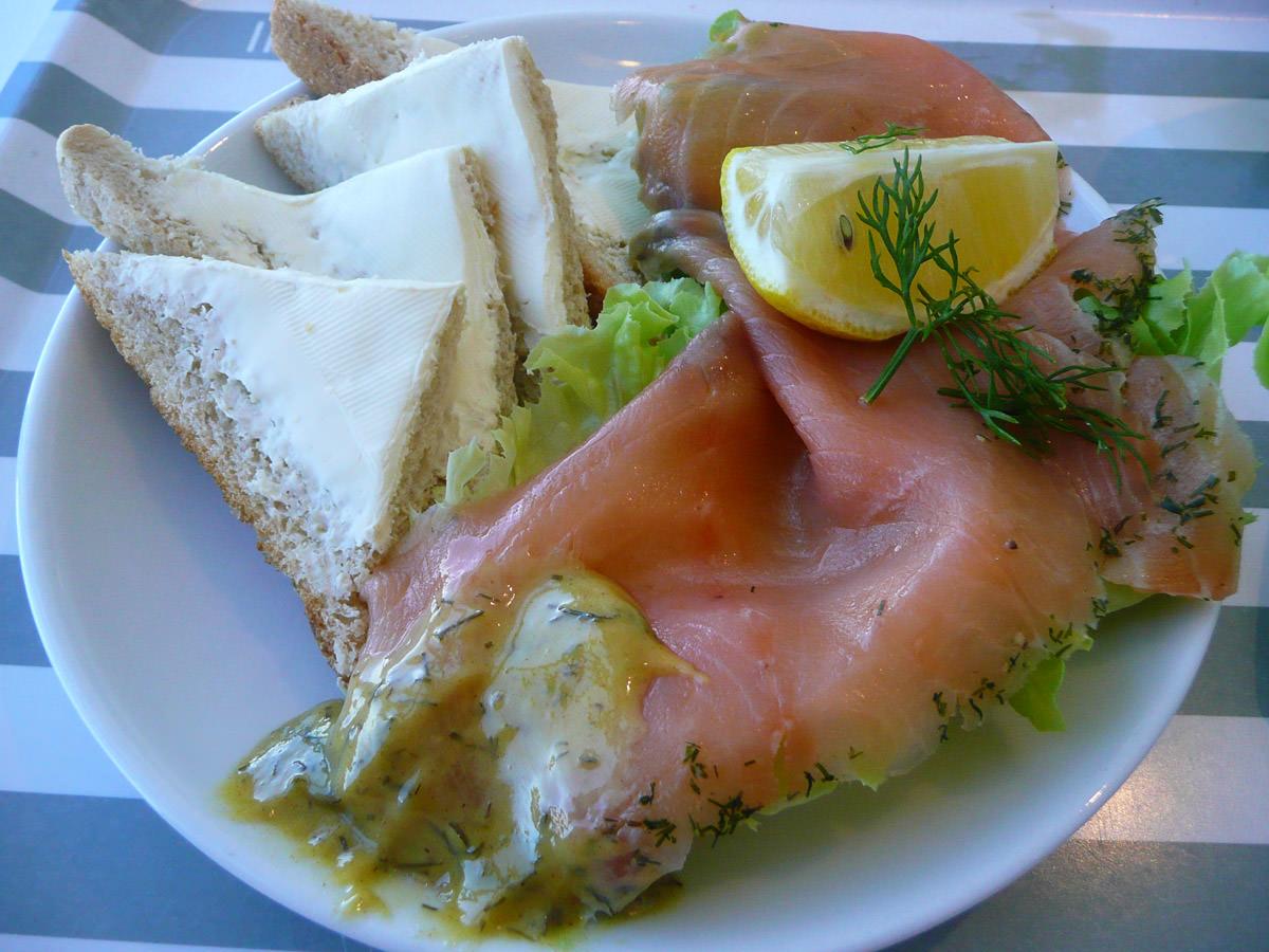 IKEA smoked salmon platter