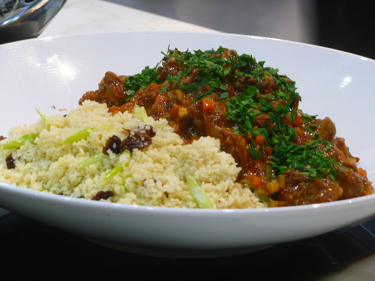 Tagine chicken with cous cous
