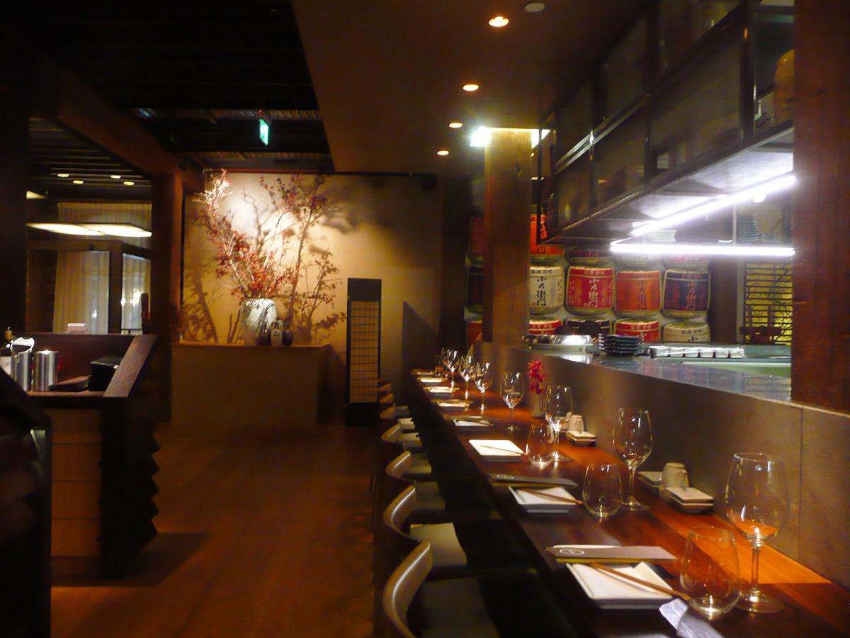 The counter at Sake Restaurant