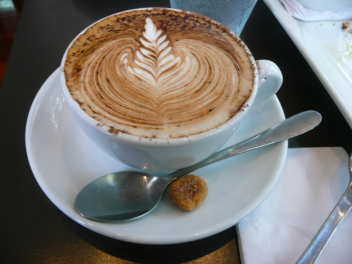 Wattle maccacino coffee