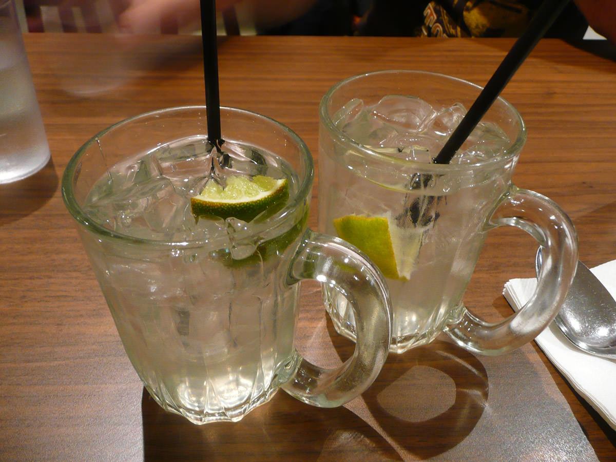 Limau ais - iced lime drink