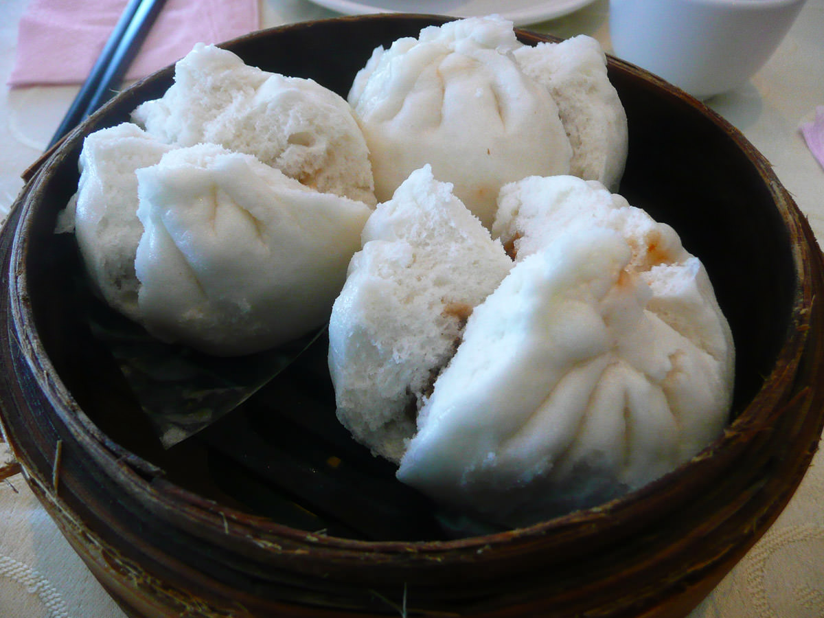 Char siu pow (BBQ pork buns)