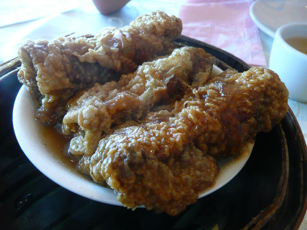 Fried tofu skin dumplings - OMG so yummy