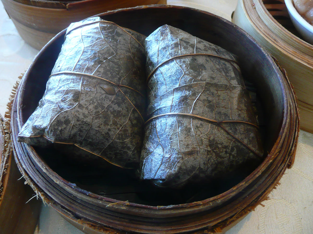 Loh mai kai (glutinous chicken rice) - wrapped in bamboo leaves