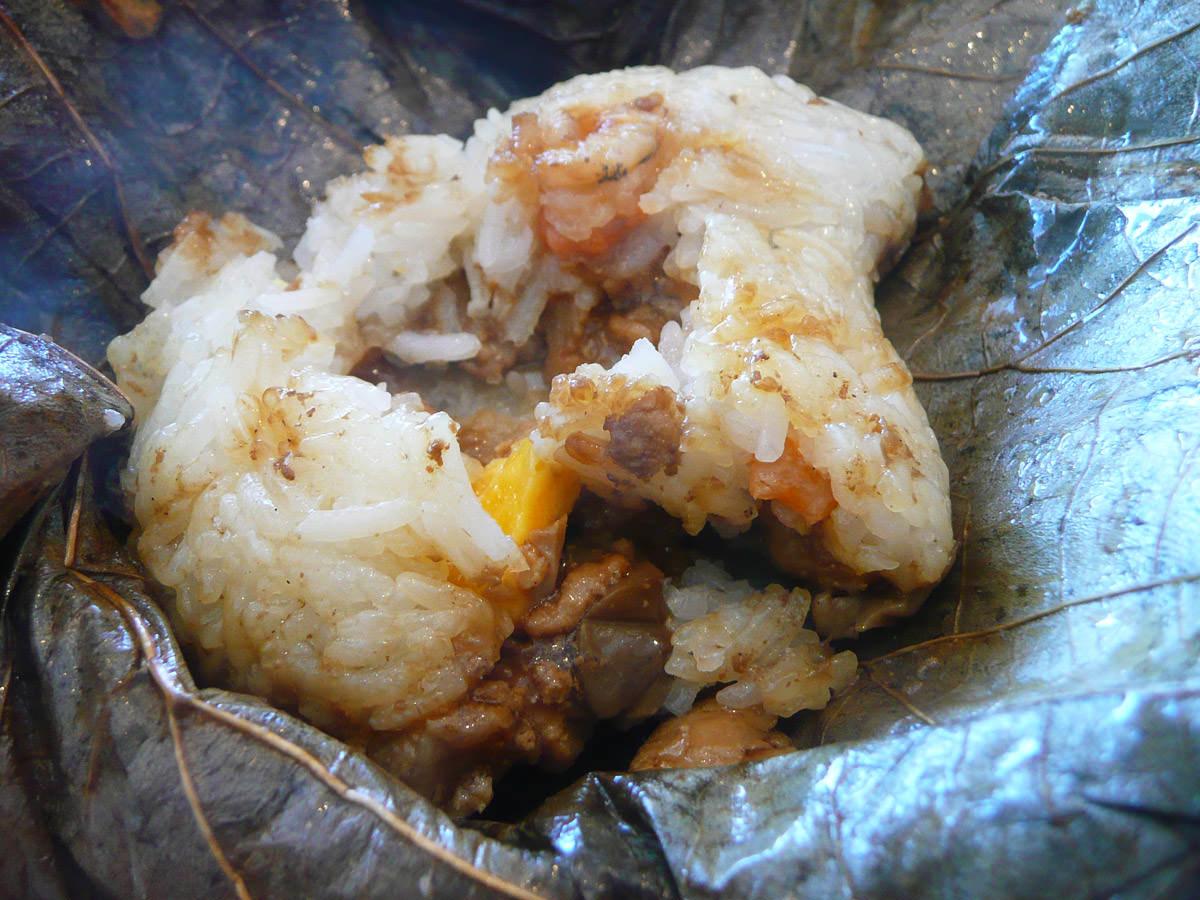 Loh mai kai (glutinous chicken rice) - unwrapped