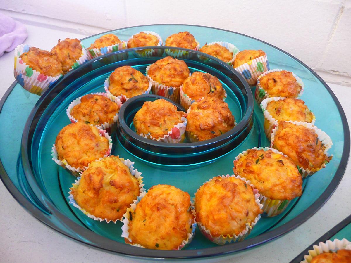 Mini quiches - made in mini muffin cases