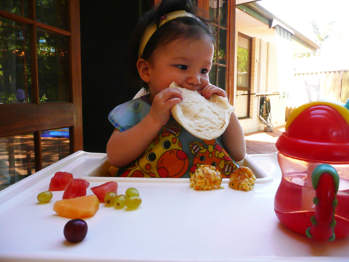 Zoe enjoys her birthday lunch