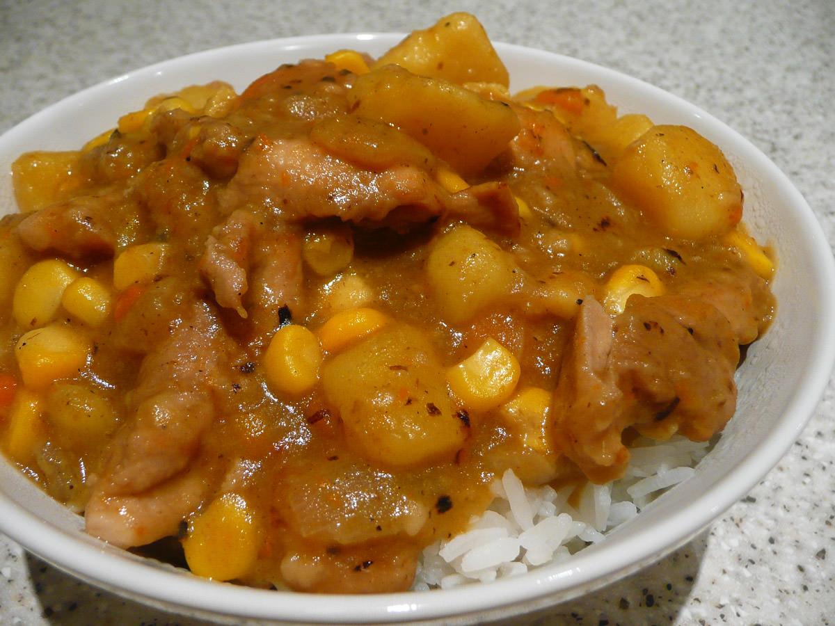 Chicken and corn stew
