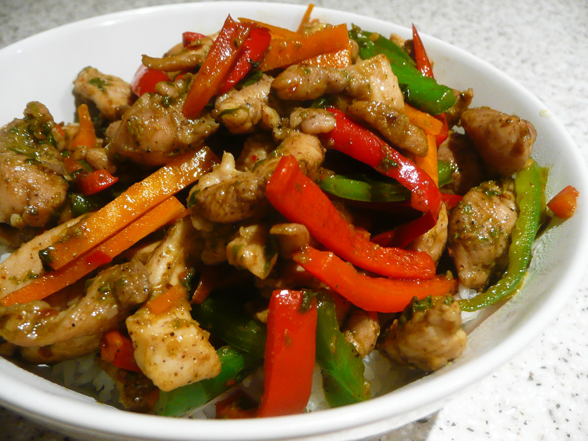 Thai-style chilli and basil stir-fry