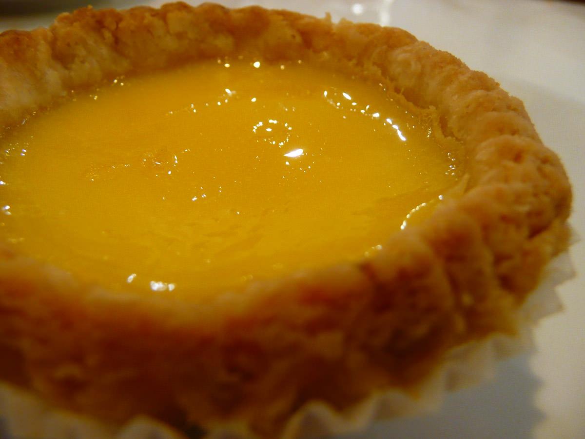 Egg tart (dan tart) - close-up