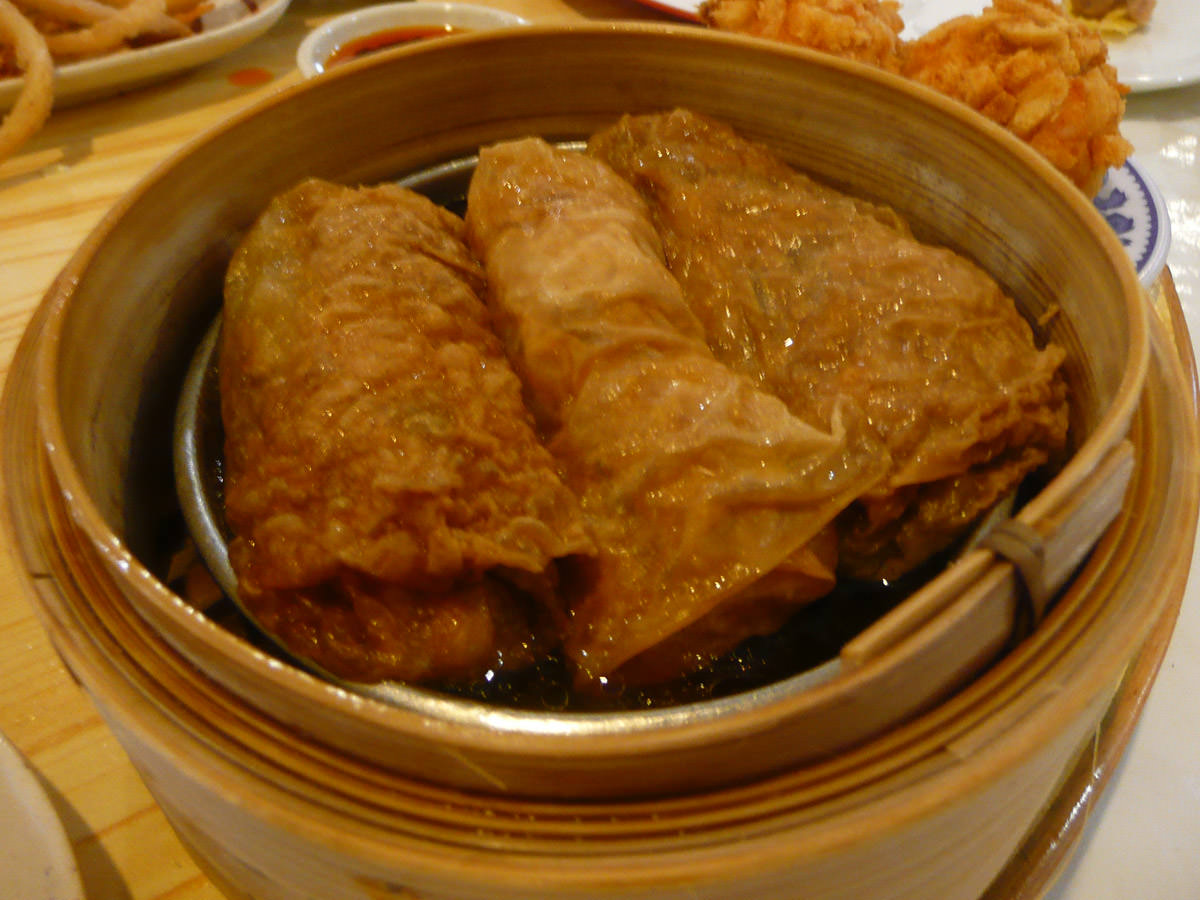 Vegetable bean curd roll