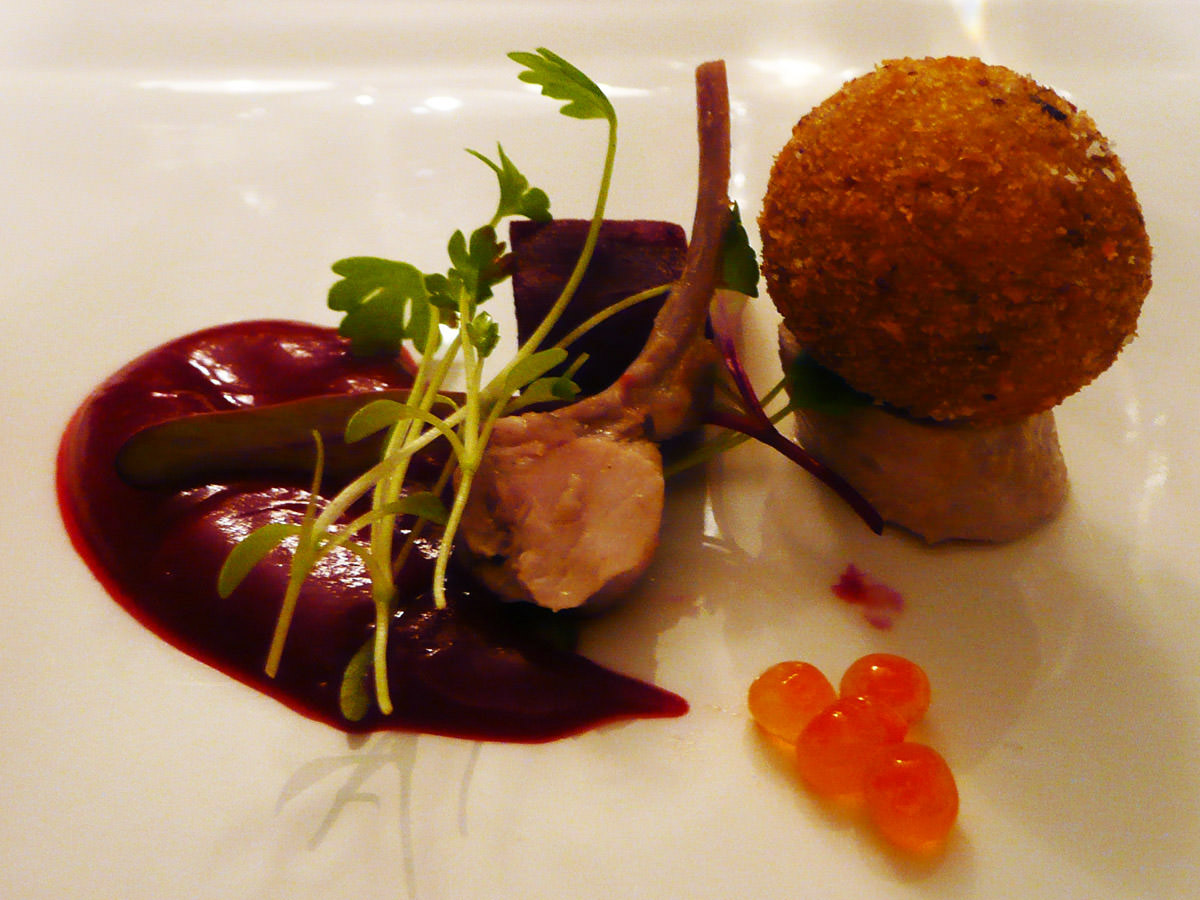 Rabbit, beetroot - close-up