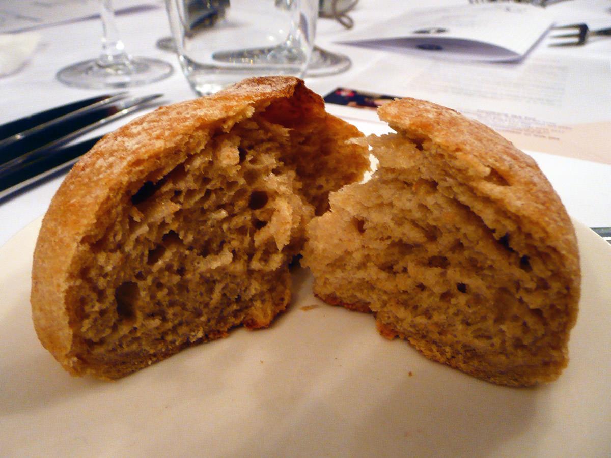 New Norcia bread roll, innards