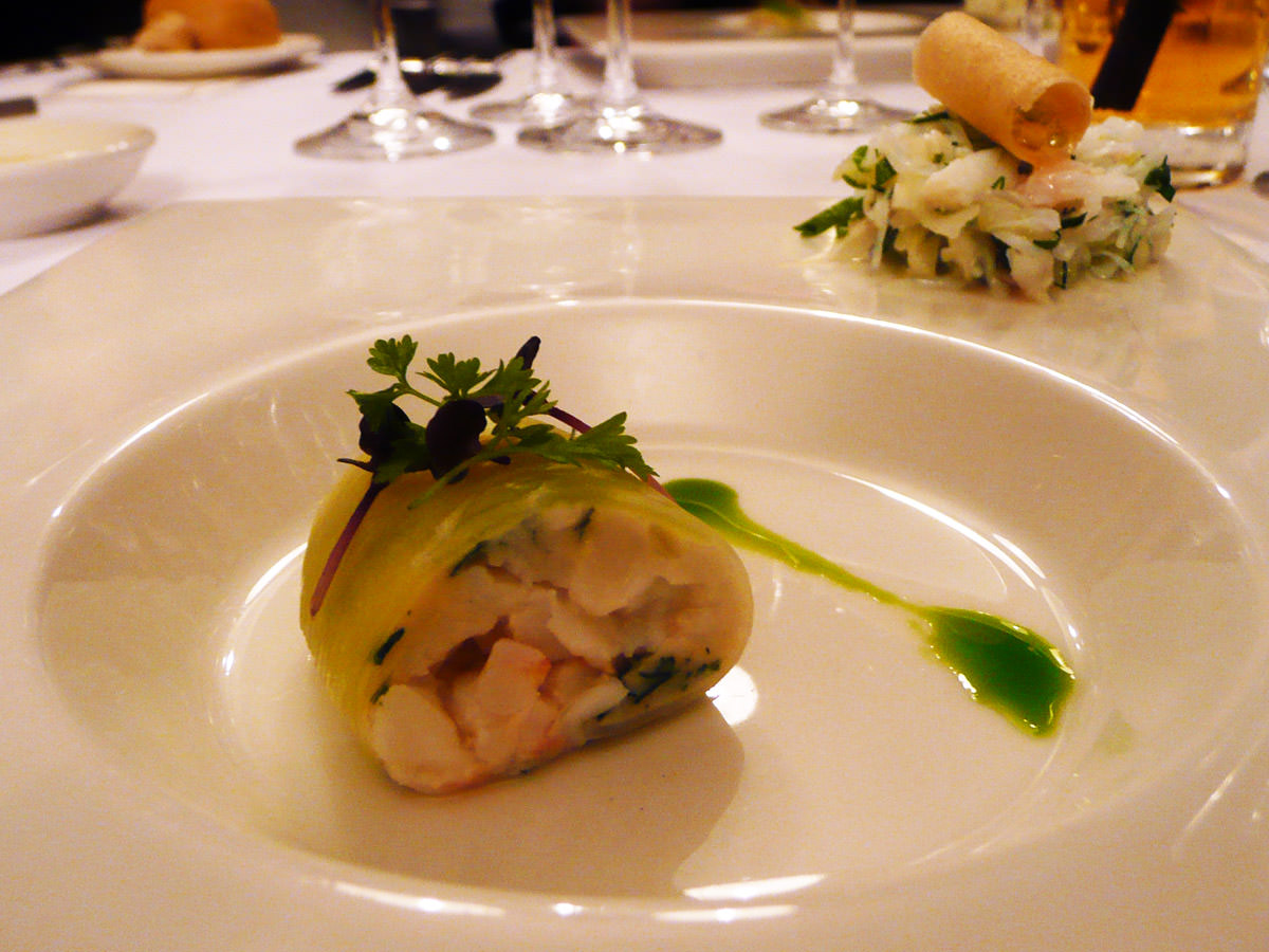Snow crab, scampi, scallop by Todd Stuart of Bouchard