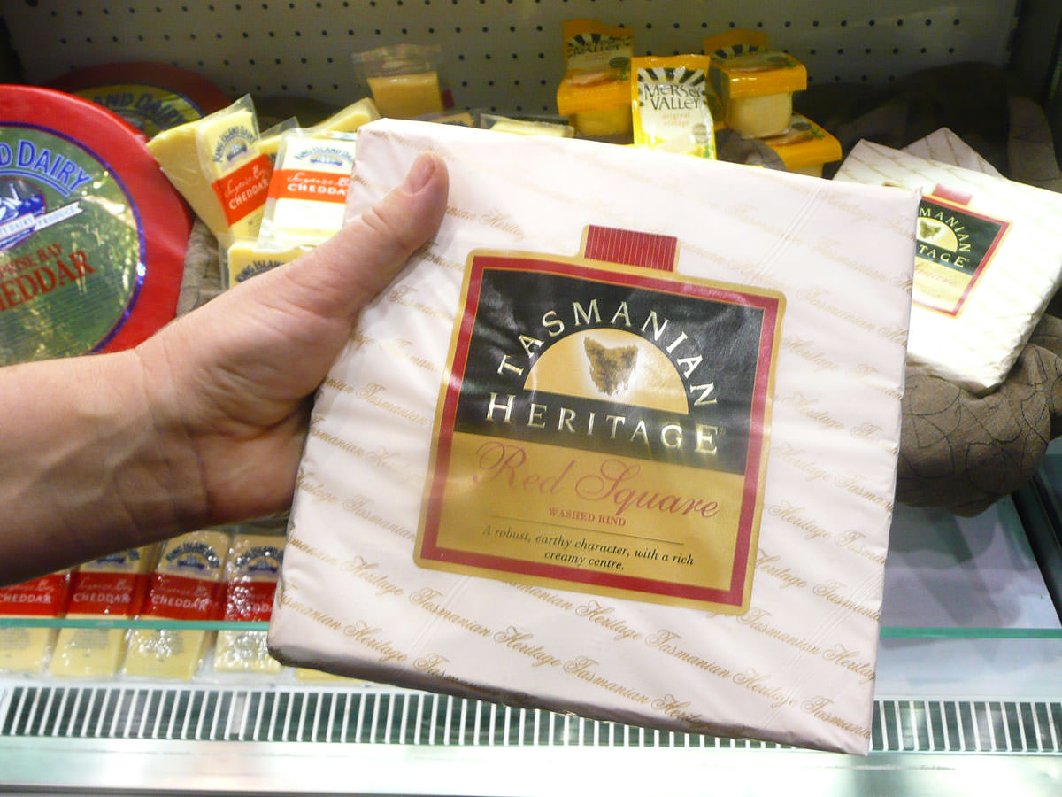 A big square of cheese