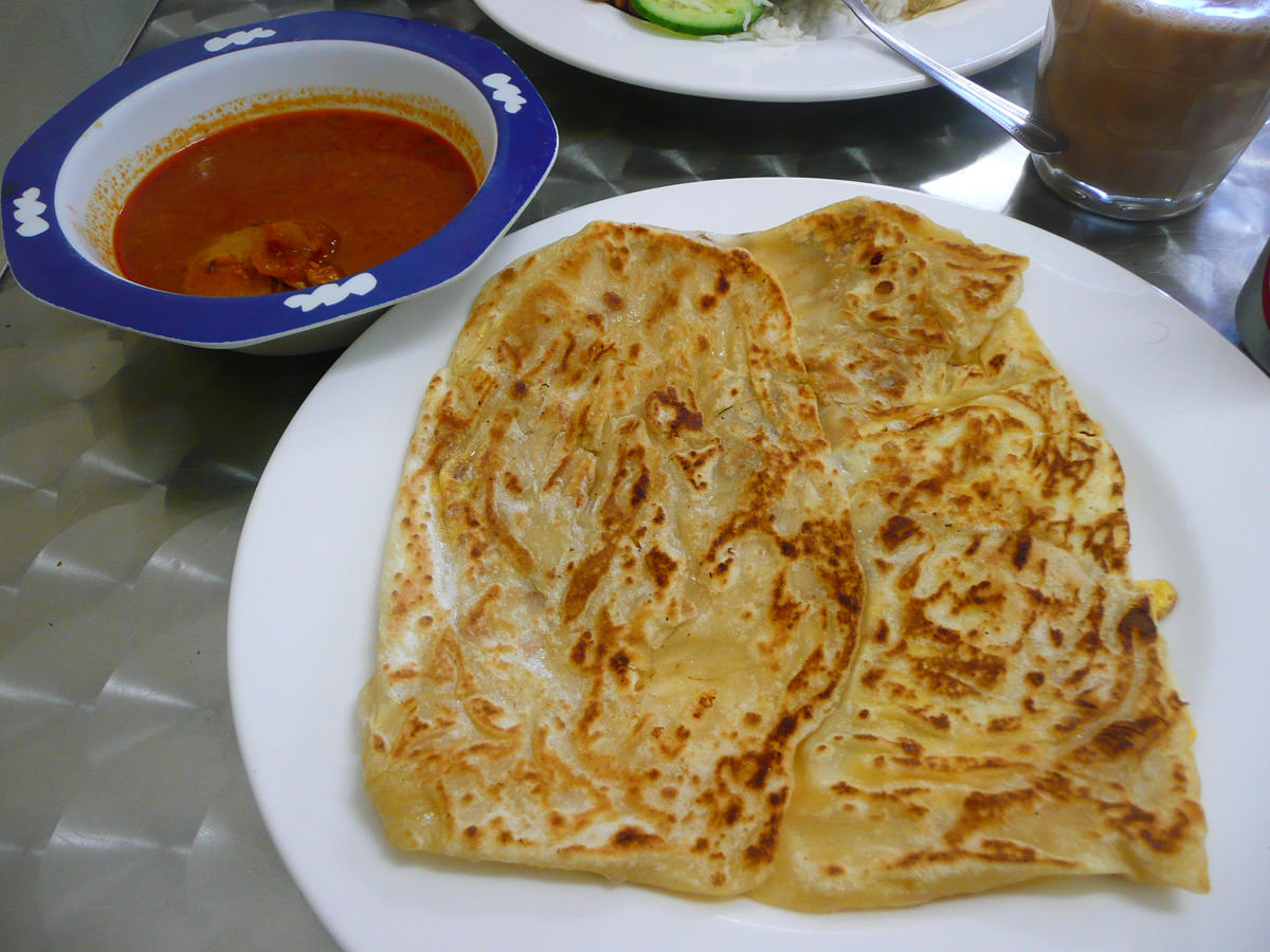 Roti canai (with curry)