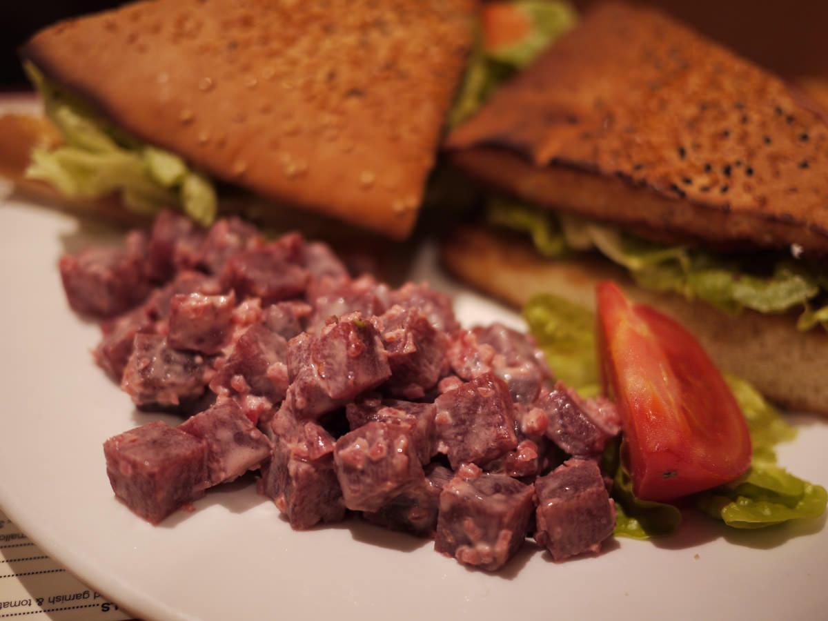 Swedish beetroot salad on the side