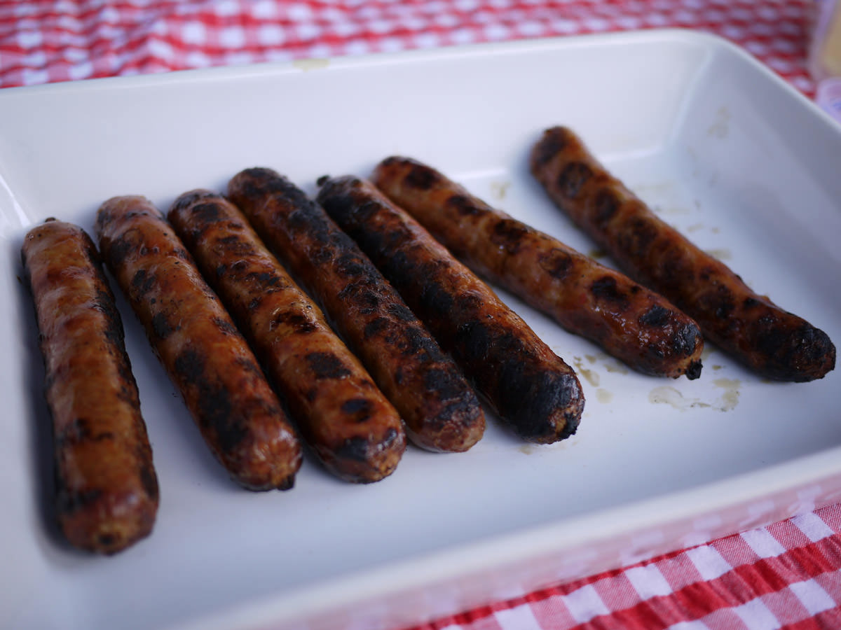 Chilli sausages