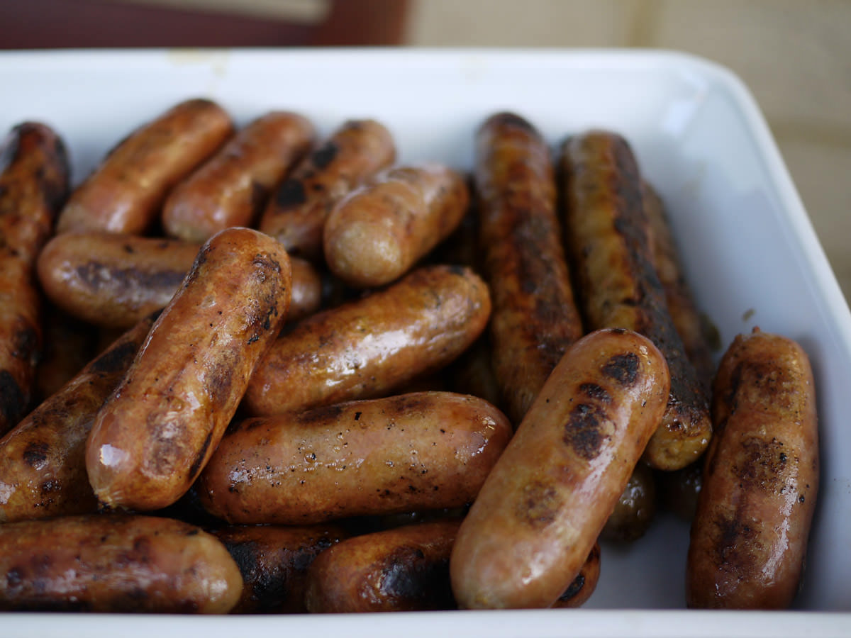 Sausages and chipolatas